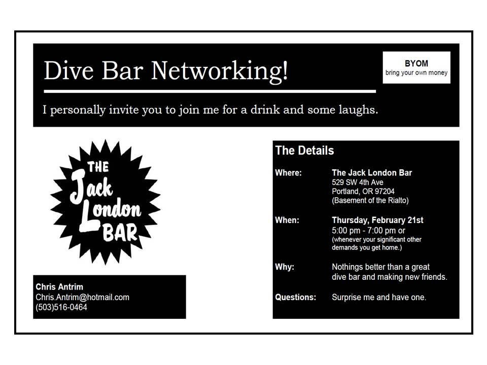 Dive Bar Networking